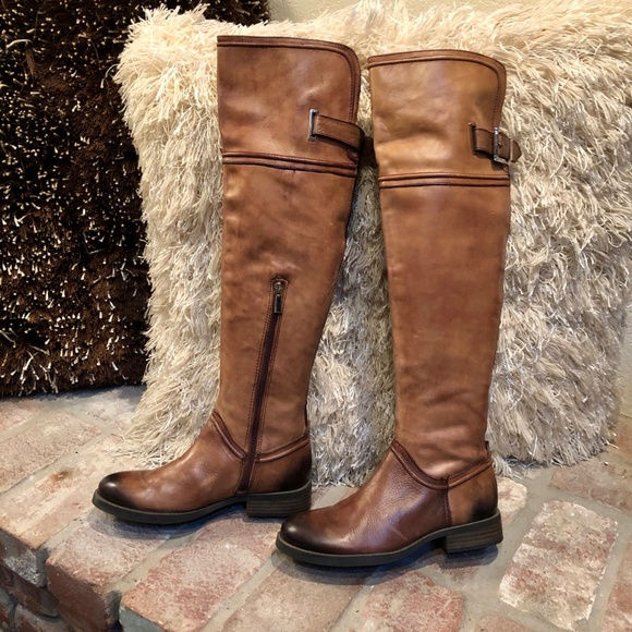 Vintage Look Distressed Riding Moto Boot